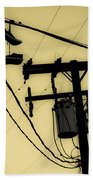 Telephone Pole And Sneakers 1 Beach Towel
