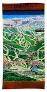 Telluride Ski Map Detail  Beach Towel