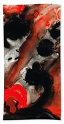 Tempest - Red And Black Painting Beach Towel