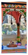 Colorful Temple Entrance - Omkareshwar India Beach Towel