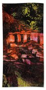 Temple In The Woods Beach Towel