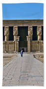 Temple Of Hathor Near Dendera-egypt Beach Towel by Ruth Hager