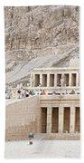 Temple Of Hatsepsut In Egypt Beach Towel