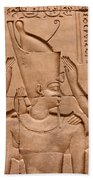 Temple Of Horus Relief Beach Towel by Stephen & Donna O'Meara