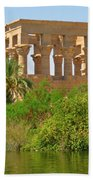 Temple Of Isis Among The Trees Beach Towel