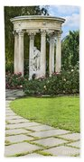Temple Of Love Statue At The Rose Garden Of The Huntington. Beach Towel