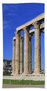 Temple Of Olympian Zeus Athens Greece Beach Towel