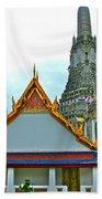 Temple Of The Dawn-wat Arun In Bangkok-thailand Beach Towel