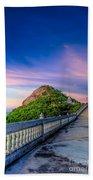 Temple Sunset Beach Towel