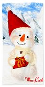 Tender Snowman Beach Towel