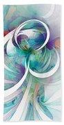 Tendrils 03 Beach Towel by Amanda Moore