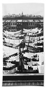 Tenement Housing Laundry Beach Towel