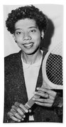 Tennis Star Althea Gibson Beach Towel