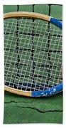 Tennis - Vintage Tennis Racquet Beach Towel