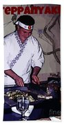Teppanyaki Cooking  Beach Towel