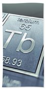 Terbium Chemical Element Beach Towel