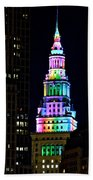 Terminal Tower Rainbow Beach Towel