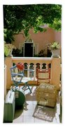 Terrace At A Guest House At Waterloo Beach Towel