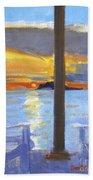 Terrace Sunset Beach Towel