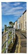 Terraced Cottages At Mousehole Beach Towel