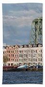 Terraced Houses And Koninginnebrug In Rotterdam Beach Towel