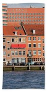 Terraced Houses In Rotterdam City Centre Beach Towel