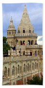 Terraces And Towers Of Fishermans Bastion Beach Towel
