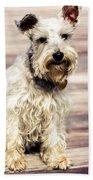 Terrier On Deck Beach Towel
