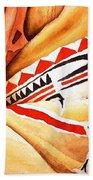 Teton Dacota Indian Woman Detail Beach Towel