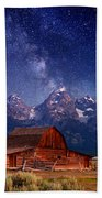 Teton Nights Beach Towel by Darren  White
