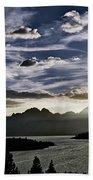 Teton Range Sunset Beach Towel