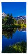 Teton Reflection Beach Towel