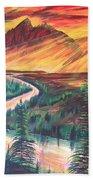 Teton Sunset Beach Towel