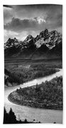Tetons And The Snake River Beach Towel