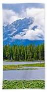 Tetons From Heron Pond In Grand Teton National Park-wyoming Beach Towel