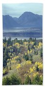 1m9209-tetons From Signal Mountain, Wy Beach Towel