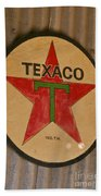 Texaco Star Beach Towel