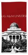 Texas A And M University - Dark Red Beach Towel