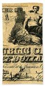 Texas Banknote, 1841 Beach Towel
