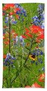Texas Best Wildflowers Beach Towel