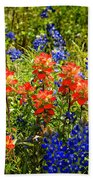 Texas Bluebonnets And Red Indian Paintbrush Beach Towel