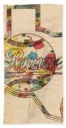 Texas Rangers Logo Vintage Beach Sheet