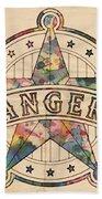 Texas Rangers Poster Art Beach Towel