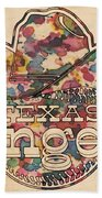 Texas Rangers Vintage Art Beach Towel