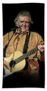 Texas Singer Songwriter Guy Clark In Concert Beach Towel