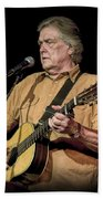 Texas Singer Songwriter Guy Clark Beach Towel