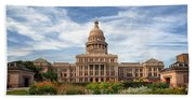 Texas State Capitol II Beach Towel