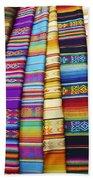 Textile Market Otavalo Ecuador Beach Towel