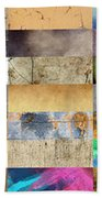 Texture Collage Beach Towel