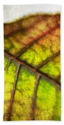 Textured Leaf Abstract Beach Towel